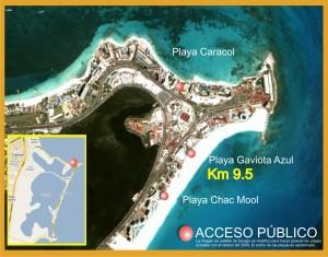 acceso-playa-gaviota-azul-mapa